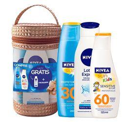 Kit Nivea Sun Fps30 e Protetor Kids Grátis Loção e Necessaire