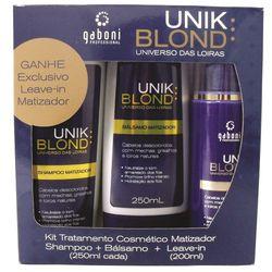 Kit-Matizador-Unik-Blond-Gaboni-c-Shampoo-250ml---Balsamo-Matizante-250ml---Leave-in-200ml---56268.00