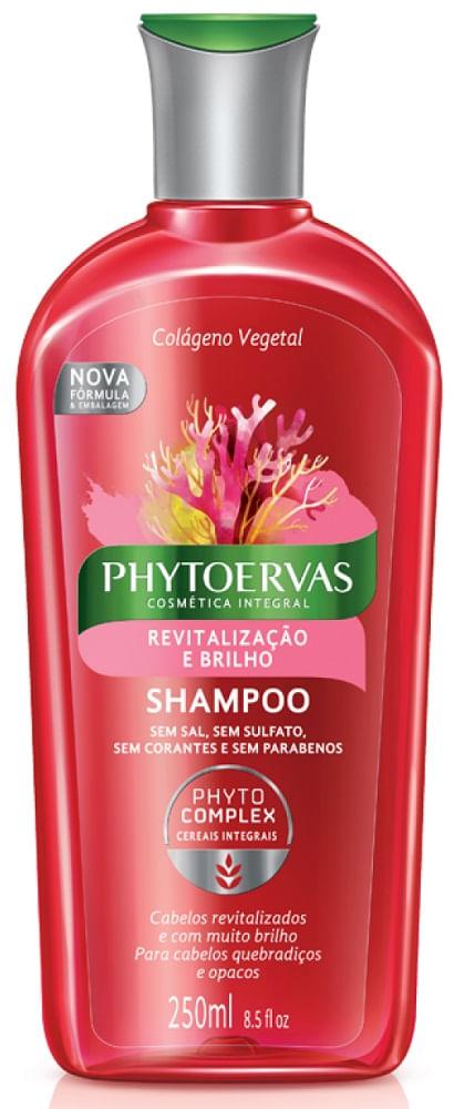 Shampoo Phytoervas Complex Revitalização e Brilho 250ml
