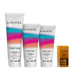Kit-Lowell-Color-Use-Shampoo-240ml---Condicionador-200ml---Leave-in-180ml---Serum-10ml-51808.00