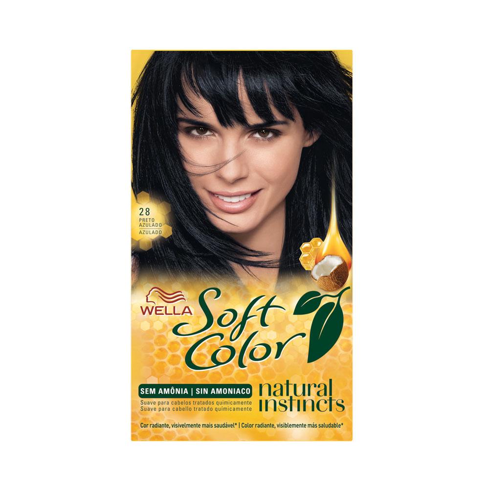 Coloração Sem Amônia Soft Color Kit 28 Preto Azulado TINT. SOFT COLOR KIT 28 PRETO AZULADO