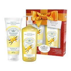 Kit-Flores---Vegetais-Hidrante-Coporal-200ml---Sabonete-Liquido-310ml-Vanilla