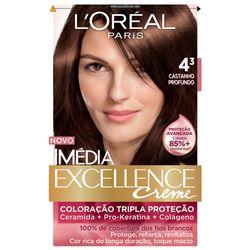 Kit-Tintura-L-Oreal-Imedia-Excellence-Creme-4.3-Chocolate-Profundo-00732.49