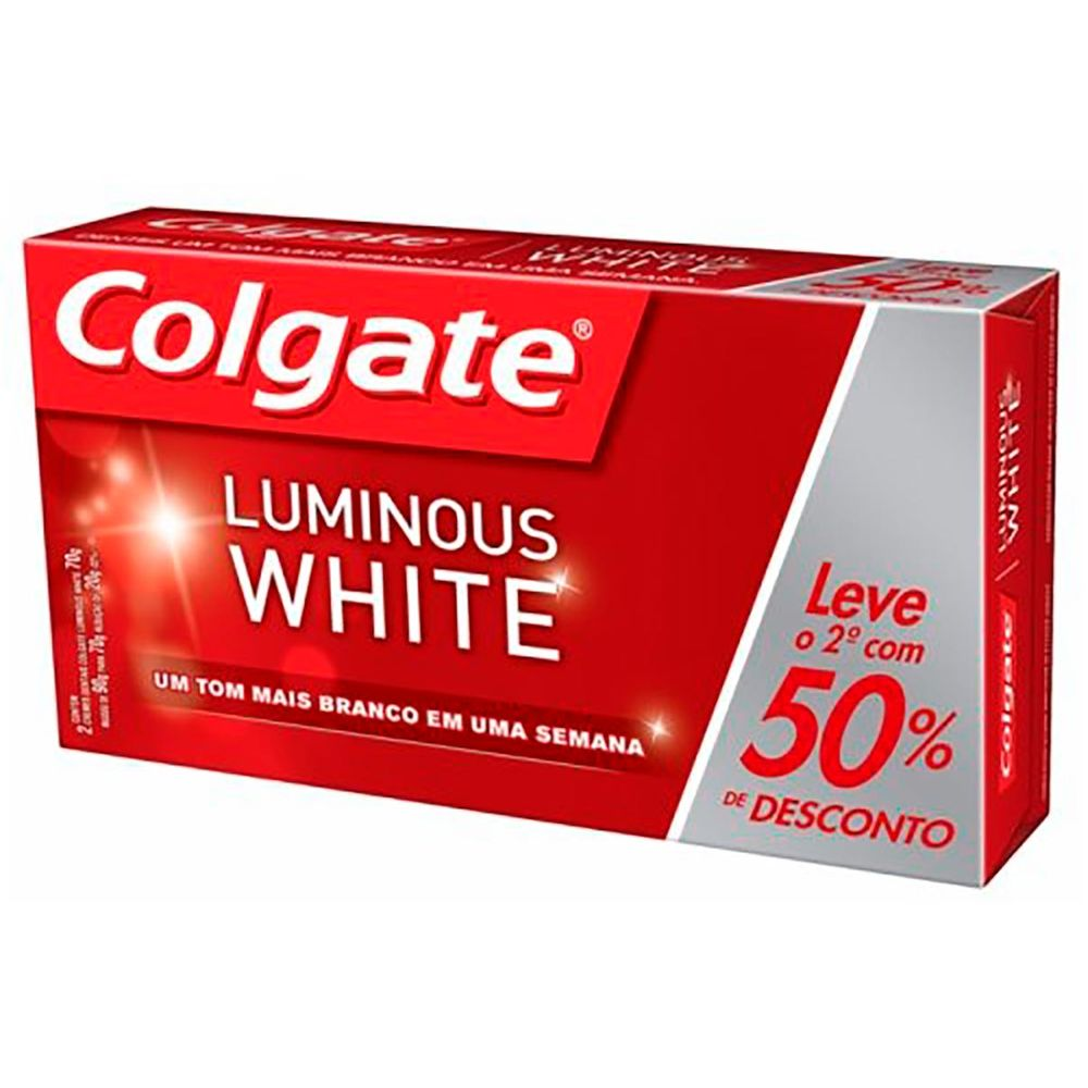 Kit Creme Dental Colgate Luminous White 70g 2 Unidades