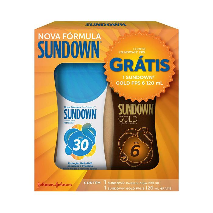 Kit-Protetor-Solar-Sundown-FPS-30---Gratis-Bronzeador-Sundown-Gold-FPS-6