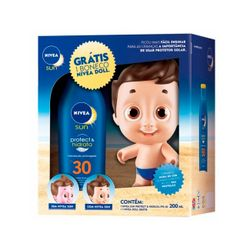 Kit-Nivea-Sun-Protetor-FPS30-200ml-Gratis-Doll-Boneco