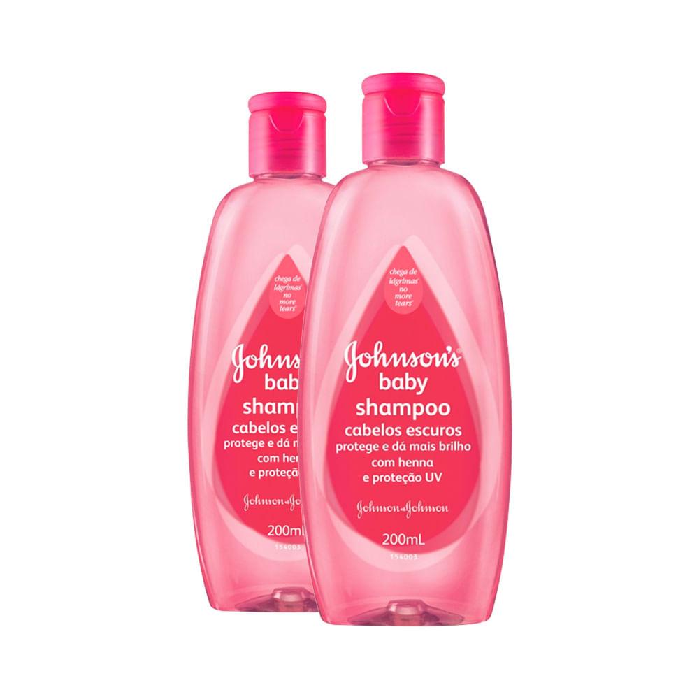 Kit Shampoo Johnson & Johnson Baby Cabelo Escuros Leve 2 Pague 1