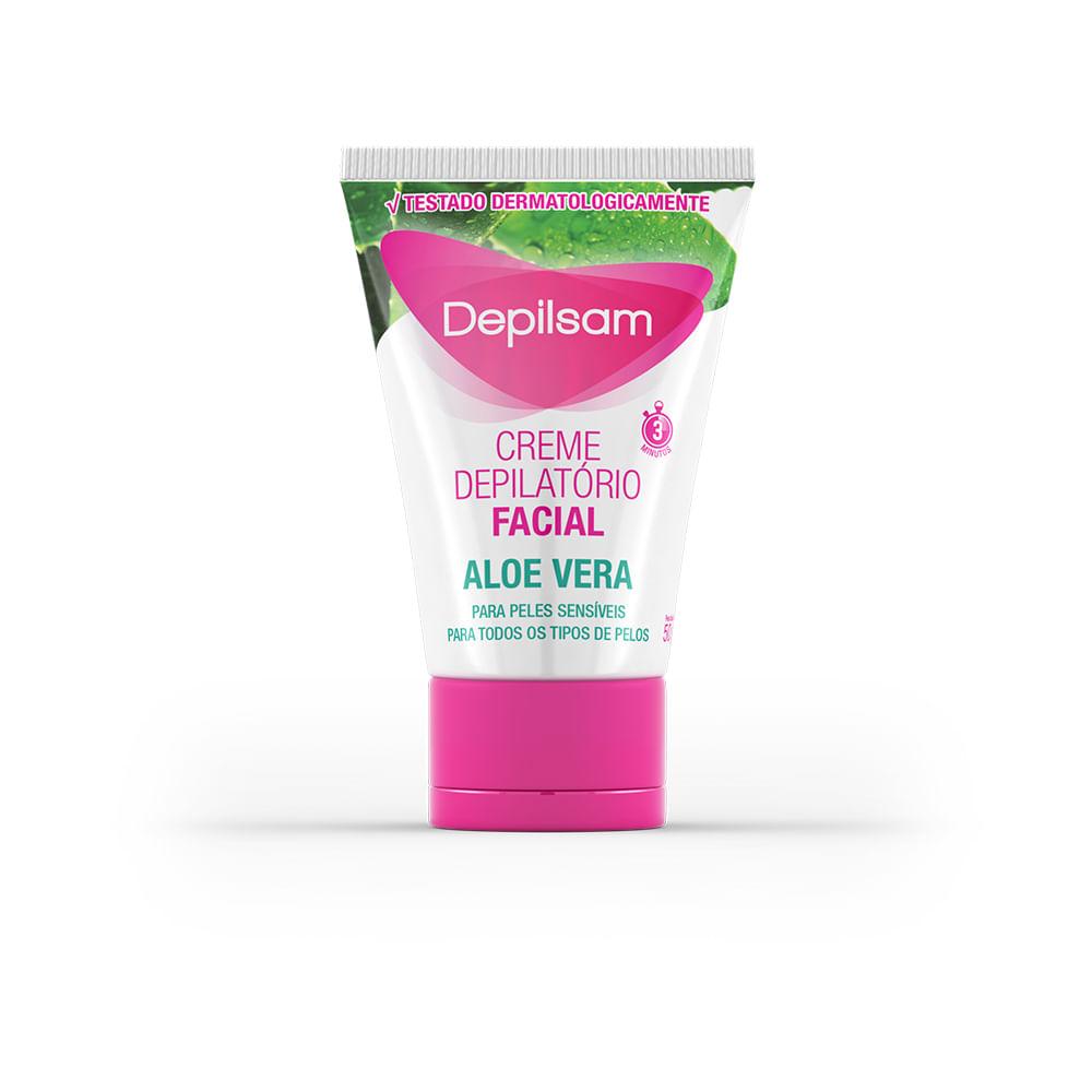 Creme Depilsam Depilatório Facial Aloe Vera com Azuleno 50g
