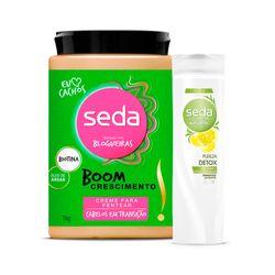 Kit-Seda-Creme-para-Pentear-Boom-Transicao-1000g-Gratis-Shampoo-Pureza-Detox-325ml