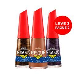 Leve-3-Pague-2-Esmalte-Mulher-Maravilha-Bracelete-Indestrutivel---Nude-Imortal---Dourado-Verdade