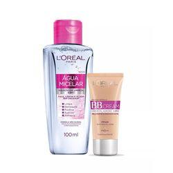 Kit-L-oreal-Dermo-Agua-Micelar-100ml---BB-Cream-Base-Media-FPS-20-30ml