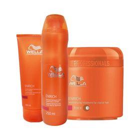 Kit-Wella-Care-Enrich-Mascara-200ml---Condicionador-200ml-Gratis-Shampoo-250ml