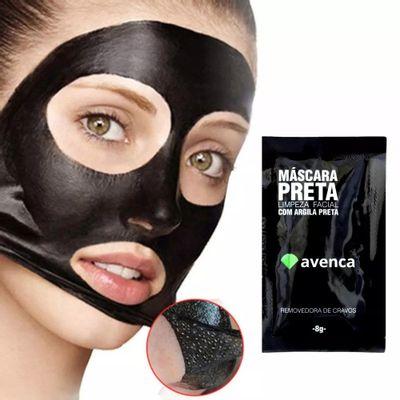 48124cd1da9f22 Máscara Removedora de Cravos Facial Avenca com Argila Preta - Ikesaki