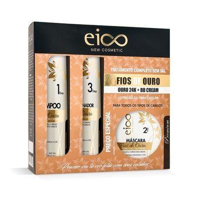 Kit-Eico-Shampoo---Condicionador---Mascara-Eico-Fios-de-Ouro