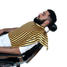 Capa-Para-Barbear-Listrada-Amarela-Azul