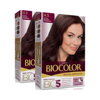 Kit-Tintura-Biocolor-Kit-Creme-4.5-Acaju-Escuro-Poderoso-Leve-2-Pague-1