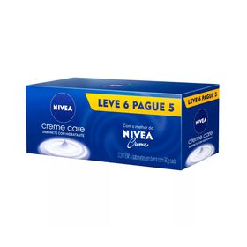 Kit-Sabonete-Hidratante-Nivea-Creme-Care-90g-Leve-6-Pague-5