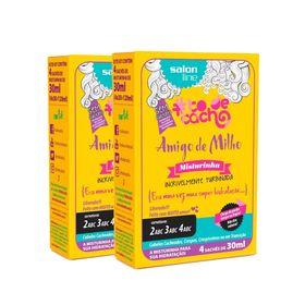 Kit-Salon-Line-Amigo-de-Milho-Misturinha--Era-uma-vez-uma-Super-Hidratacao--4-saches-de-30ml