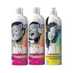 Kit-Soul-Power-Shampoo-Bomb---Condicionador-Anti-Quebra-Gratis-Creme-Easy-Mix-315ml