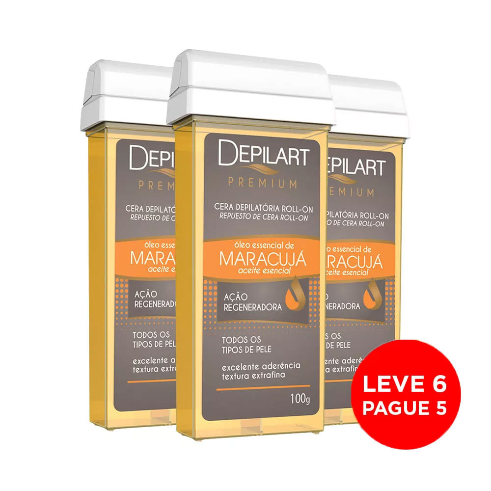Kit-Depilart-Cera-Premium-Refil-Maracuja-100g-Leve-6-Pague-5