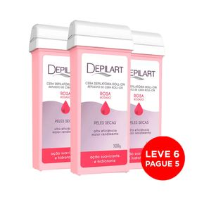 Kit-Depilart-Cera-Refil-Roll-On-Rosa-100g-Leve-6-Pague-5