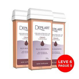 Kit-Depilart-Cera-Refil-Roll-On-Cravo-100g-Leve-6-Pague-5