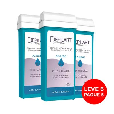 Kit-Depilart-Cera-Refil-Roll-On-Azuleno-100g-Leve-6-Pague-5