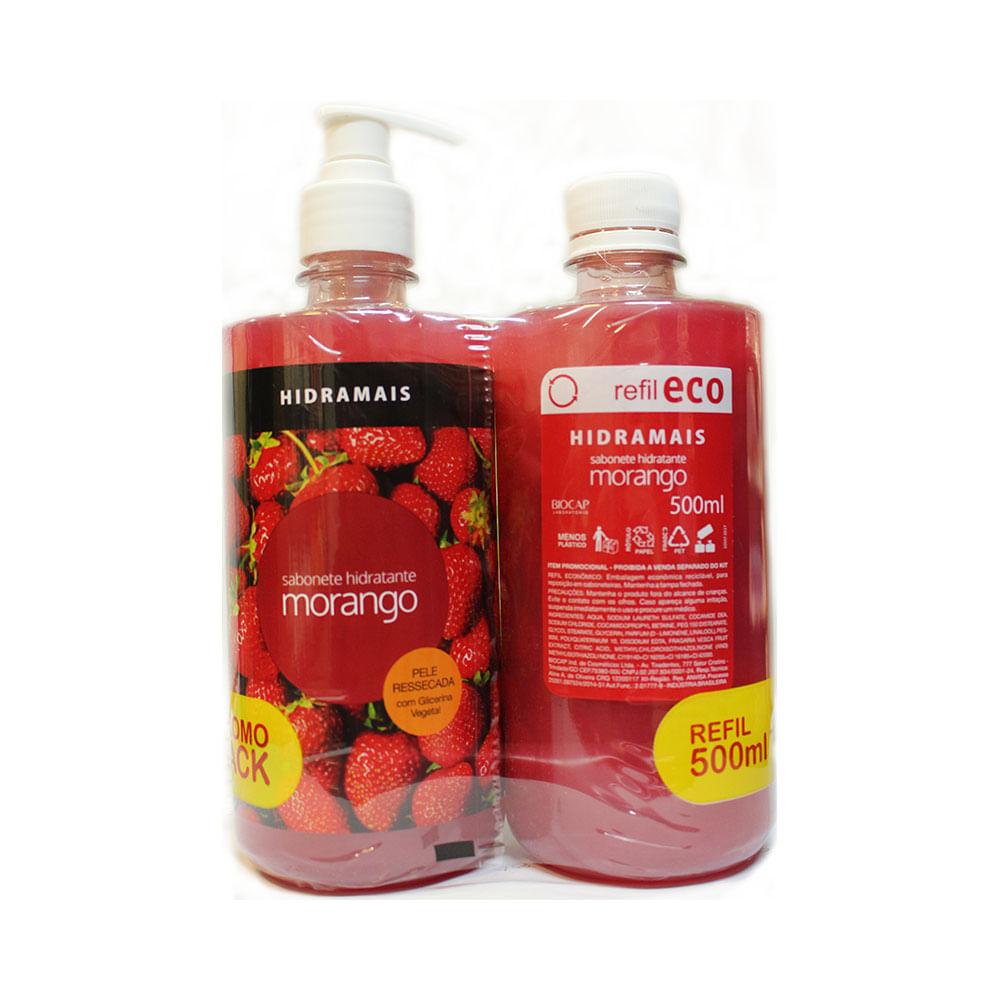 Sabonete-Liquido-Hidramais-500ml-Gratis-Refil-500ml-Morango