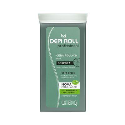 Cera-Depi-Roll-Refil-sem-Tampa-Algas-Verde