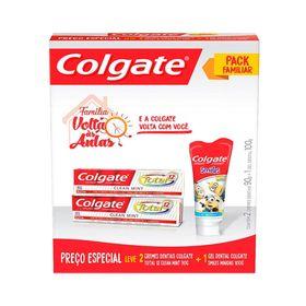 Kit-Creme-Dental-Colgate-Total-12-Clean-Mint-90g---Gel-Dental-Minions