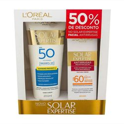Kit-L-Oreal-Expertise-Supreme-Protetor-Solar-FPS-50-200ml---Protetor-Facial-FPS-60-50ml