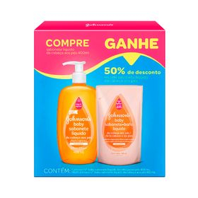 Kit-Johnsons-Baby-da-Cabeca-aos-Pes-Sabonete-Liquido-400ml--Refil-180ml