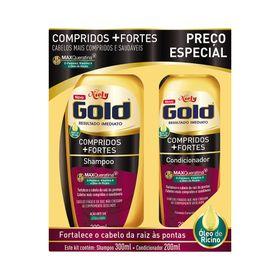 Kit-Niely-Gold-Shampoo-300ml---Condicionador-200ml-Compridos---Fortes