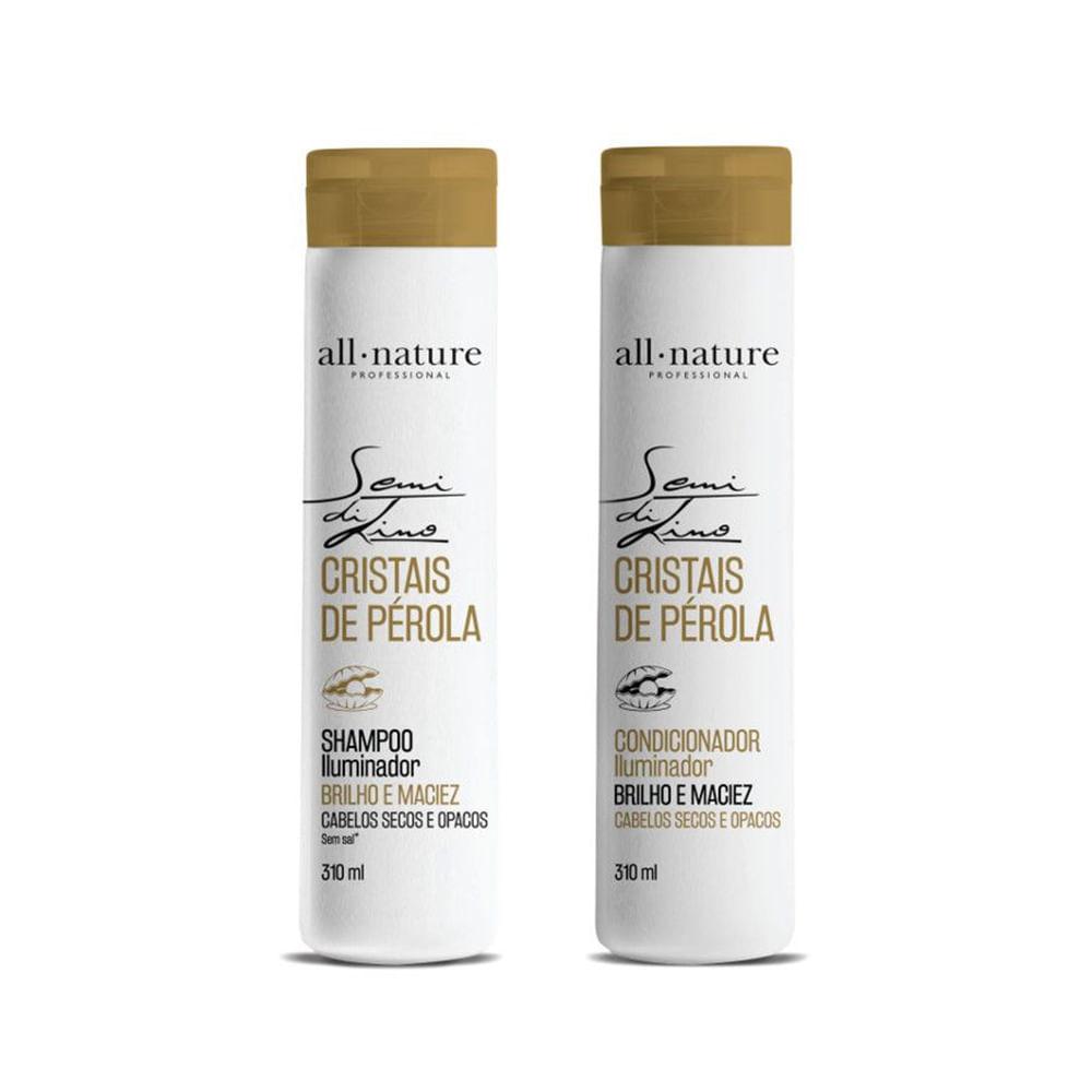 Kit-All-Nature-Shampoo---Condicionador-Semi-Di-Lino-Cristais-De-Perola-310ml