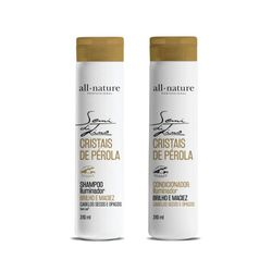 Kit-All-Nature-Shampoo---Condicionador-Semi-Di-Lino-Cristais-De-Perola-310ml