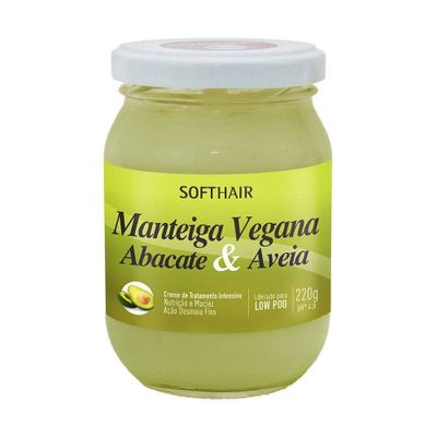Creme-Manteiga-Soft-Hair-Vegana-Abacate---Aveia-220g