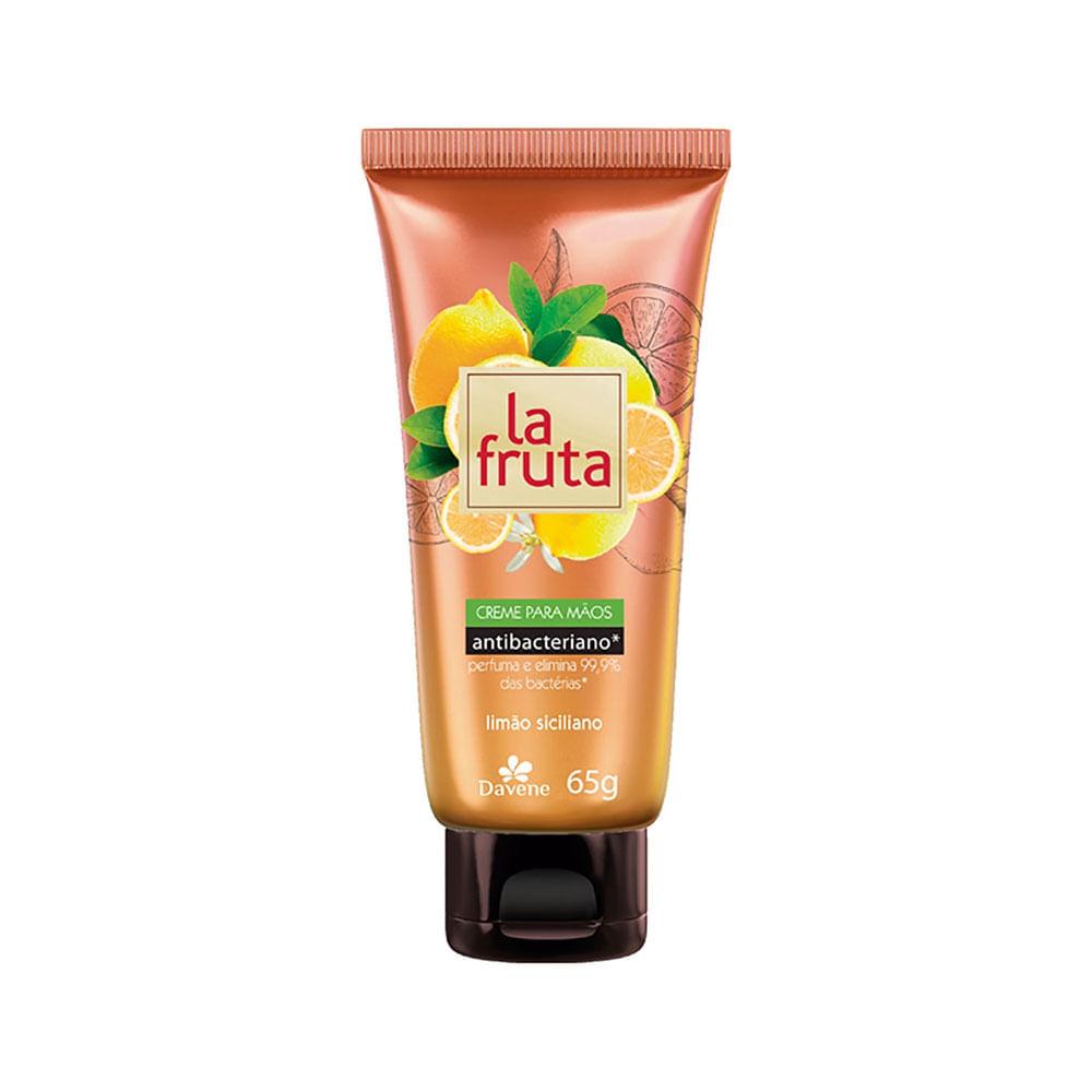 Creme-Hidratante-Davene-Antibacteriano-Para-Maos-La-Fruta-Limao-Siciliano-65g