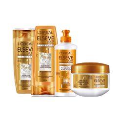 Kit-Elseve-Oleo-Extraordinario-Cachos-Shampoo---Condicionador---Creme-de-Tratamento----Creme-Para-Pentear