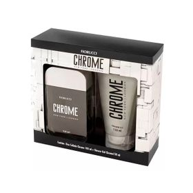Kit-Fiorucci-Chrome-Deo-Colonia-Shower-Gel-150ml