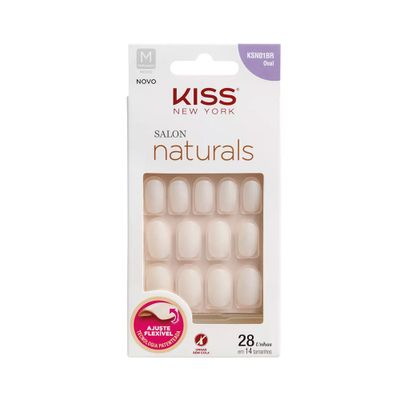Unhas-Kiss-New-York-Salon-Natural-Medio-Oval
