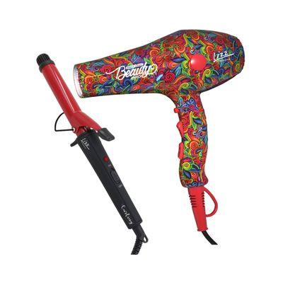 Kit-Secador-Lizz-Ionic-Beauty-127V---Modelador-Curling-25MM-Bivolt