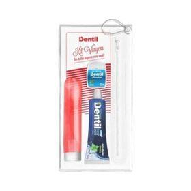 Kit-Dentil-Viagem-Creme-Dental-Escova-Dental-Fio-Dental-Vermelha