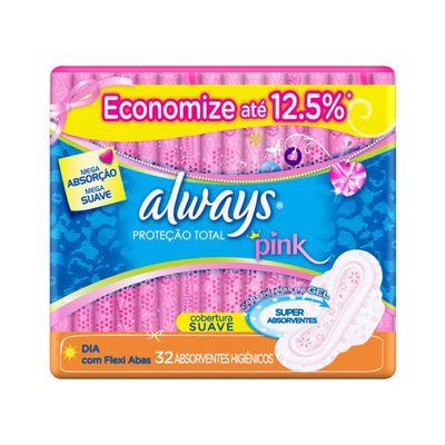 Absorvente-Always-Pink-com-32-Unidades-Suave-com-Abas