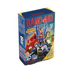 Band-Aid-Johnson-s-Decorado-Liga-da-Justica-com-25-Unidades