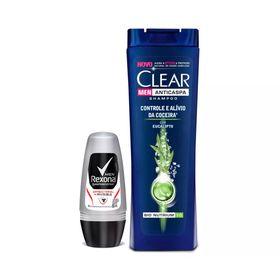 Compre-Shampoo-Clear-Anticaspa-Controle-Coceira-400ml-Ganhe-Desodorante-Rexona-Roll-On-Men-Antibacterial-Invisible--50ml