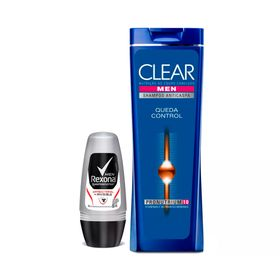 Compre-Shampoo-Clear-Men-Anticaspa-Queda-Control-400ml-Ganhe-Desodorante-Rexona-Roll-On-Men-Antibacterial-Invisible-50ml