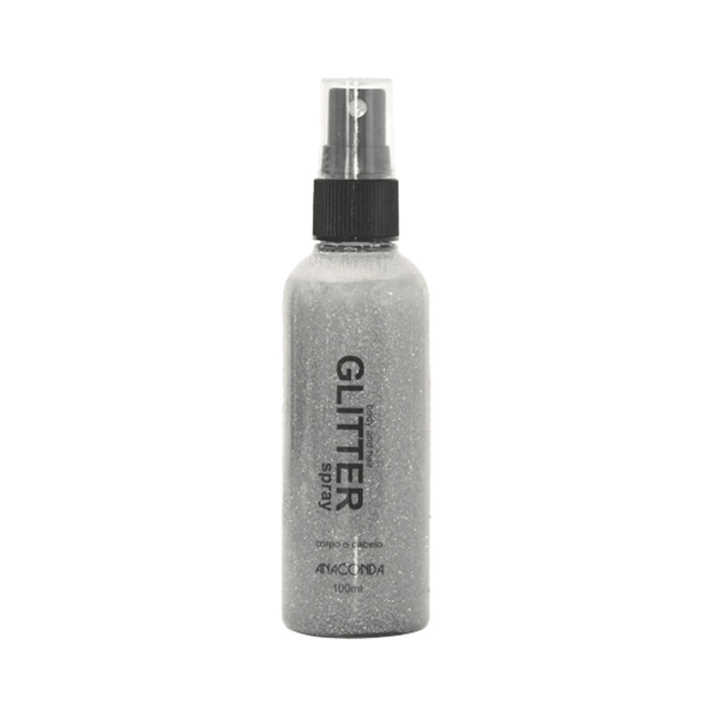 Spray-com-Glitter-Anaconda-Prata-100ml