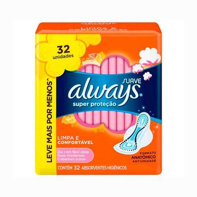 Absorvente-Always-Protecao-Total-com-32-Unidades-sem-Abas
