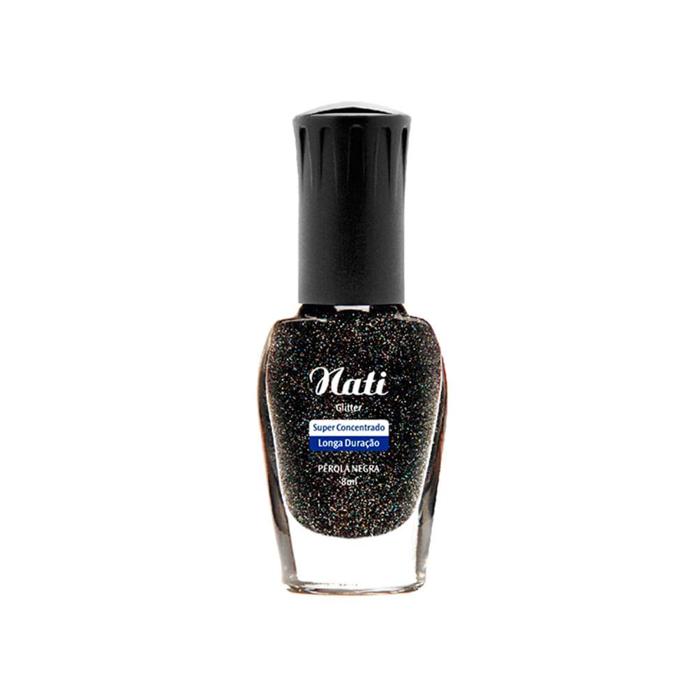 Esmalte-Nati-Glitters-Perola-Negra
