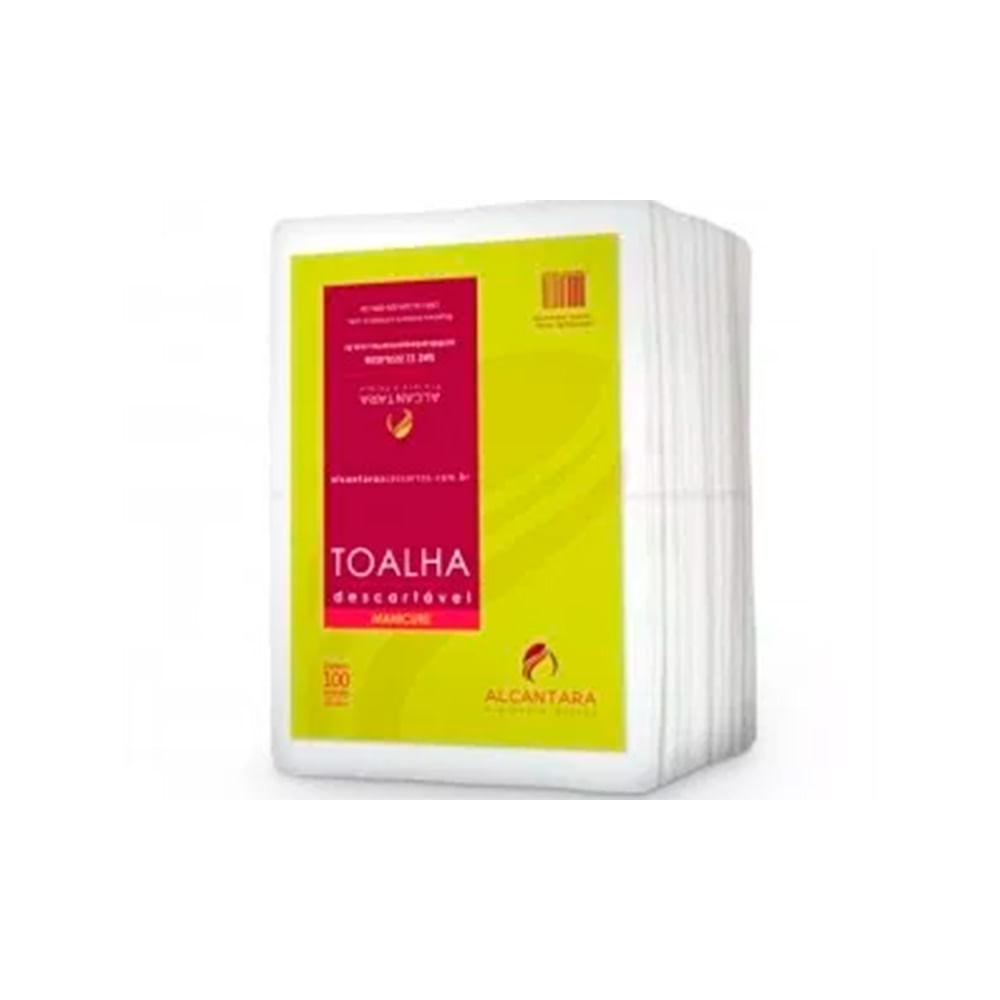 Toalha-Descartavel-Alcantara-Manicure-20x30-com-100-Unidades